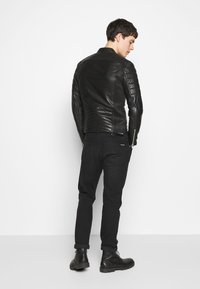 Serge Pariente - GLADATORPYTON - Leather jacket - black - 2