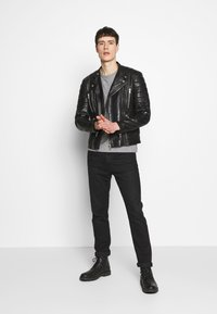 Serge Pariente - GLADATORPYTON - Leather jacket - black - 1