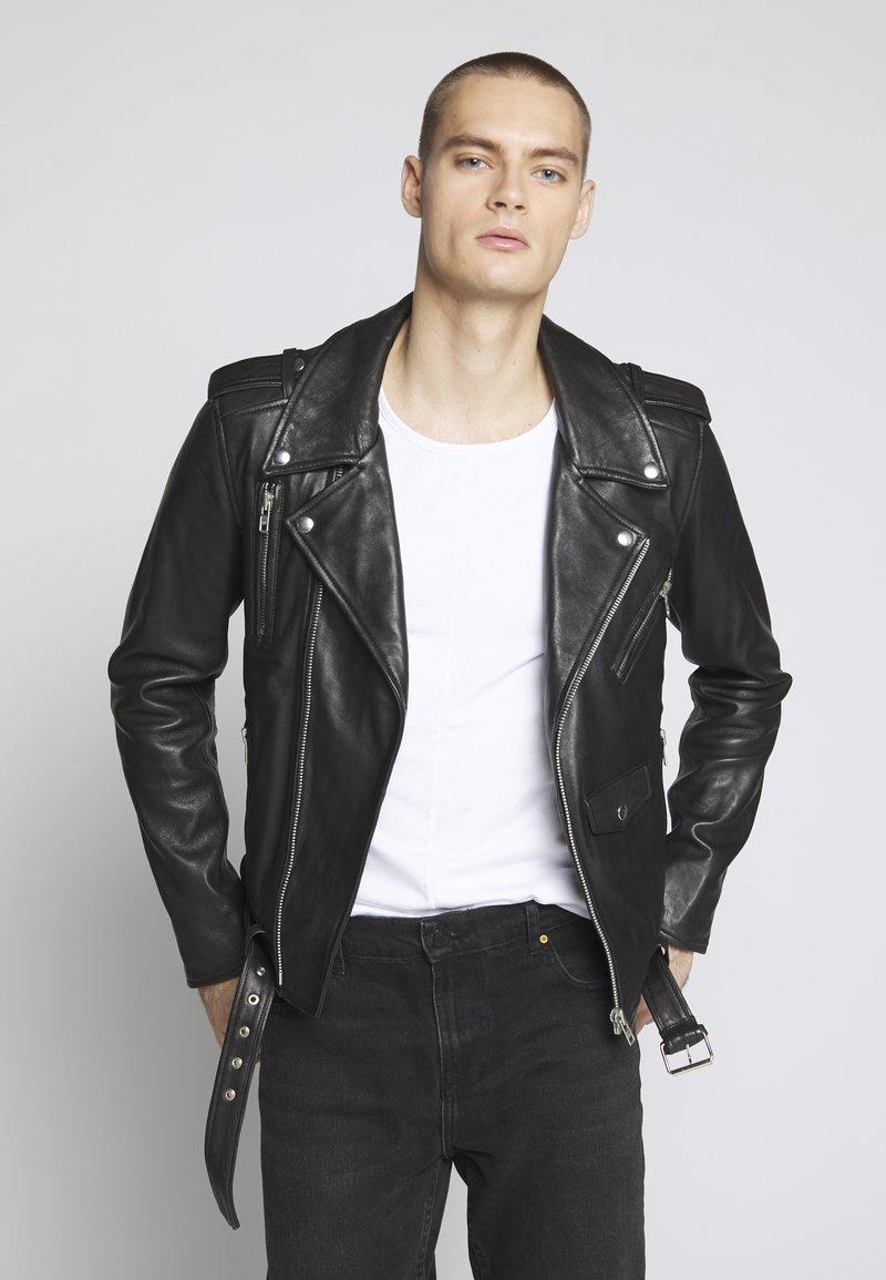 Serge Pariente - STYLE - Kožená bunda - black