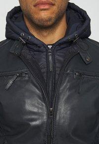 Serge Pariente - TONIC HOOD - Leren jas - blue - 6