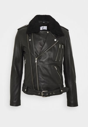GENOA - Leren jas - black
