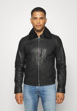 SENSE - Leren jas - black