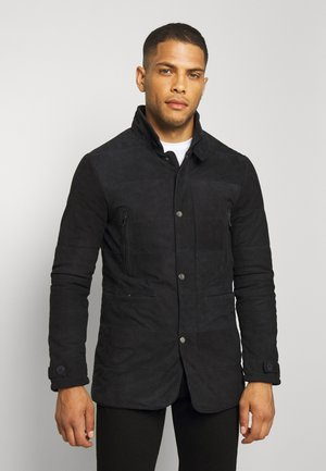 FIRENZA - Leather jacket - navy