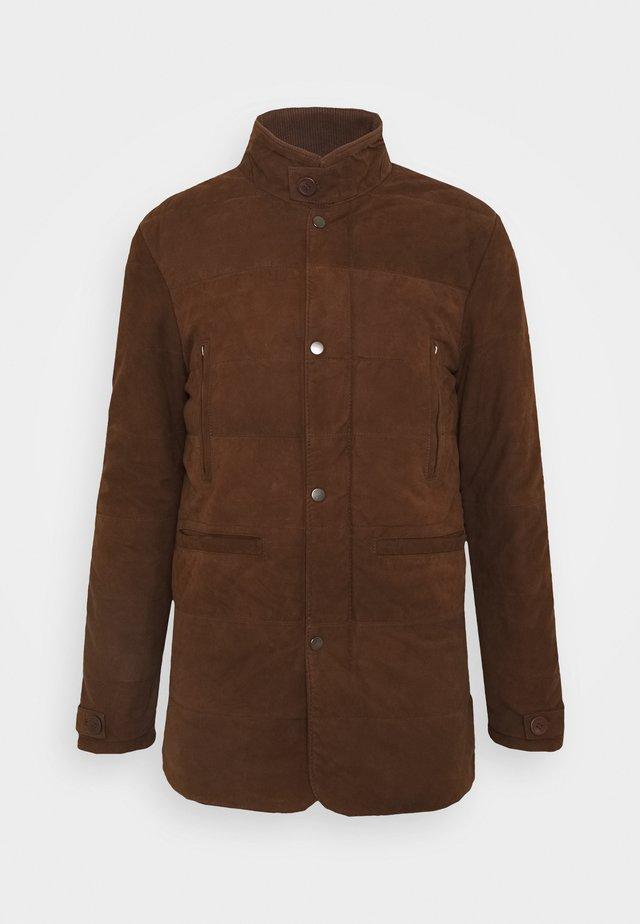 FIRENZA - Leather jacket - tobacco