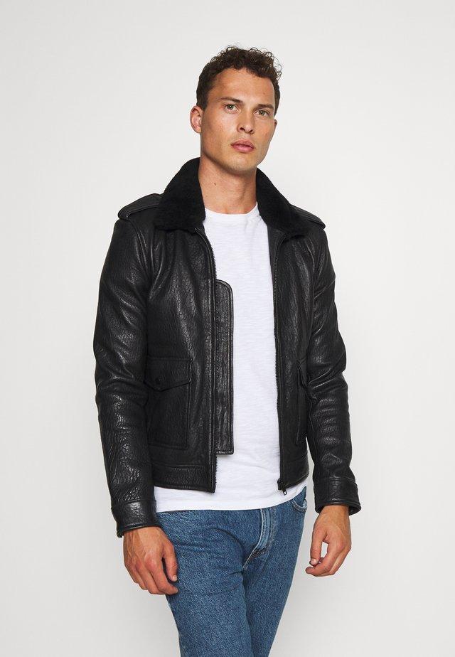 STYLE  - Leather jacket - black