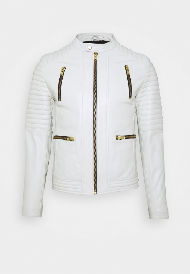 NEW LUX - Veste en cuir - white