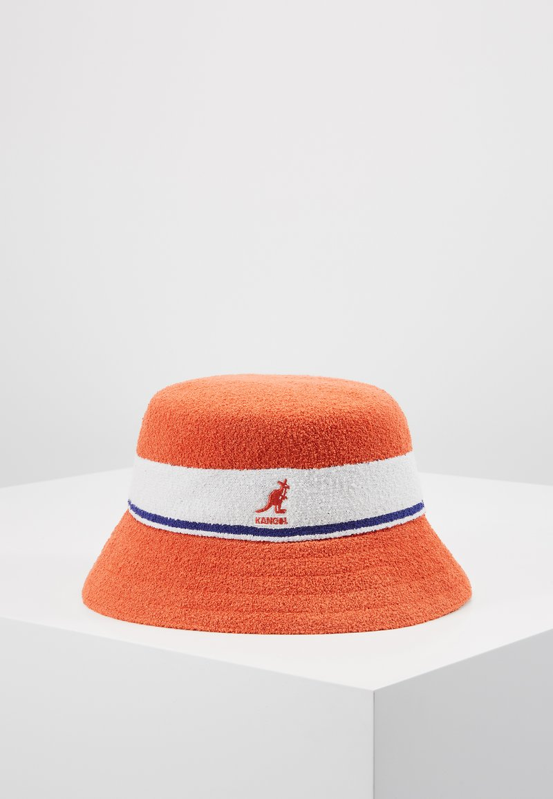 Kangol - BERMUDA STRIPE BUCKET - Klobouk - fiery orange
