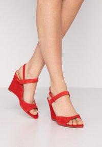 KIOMI - High heeled sandals - red - 0