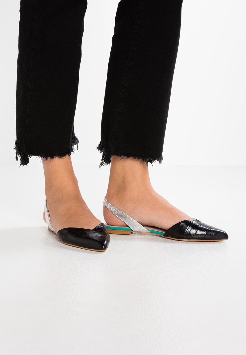 KIOMI - Ankle strap ballet pumps - black