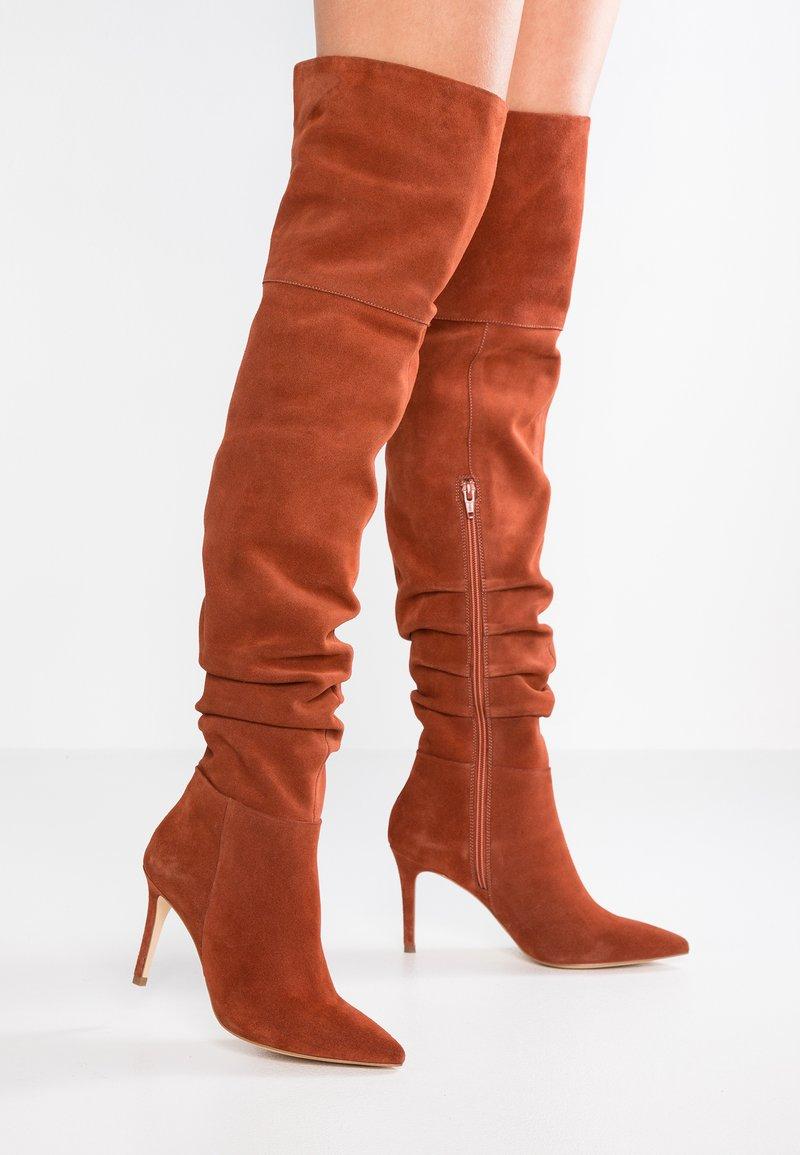 KIOMI - High heeled boots - brown