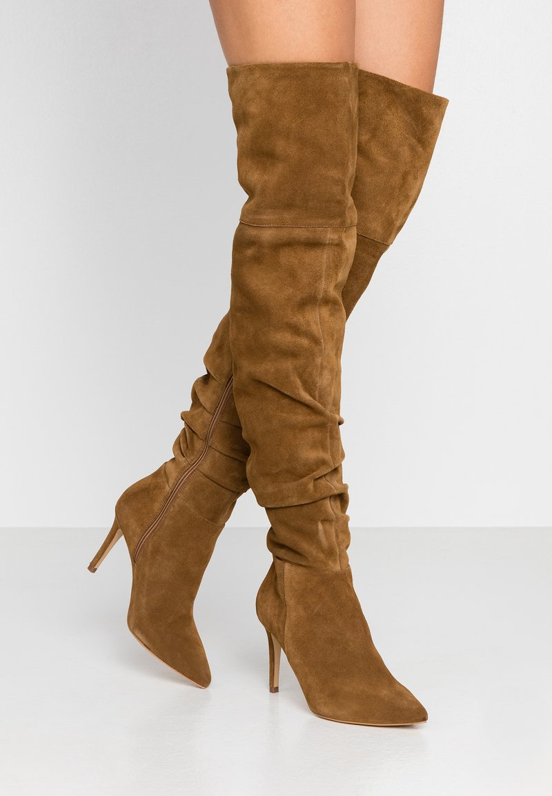 KIOMI - High heeled boots - cognac