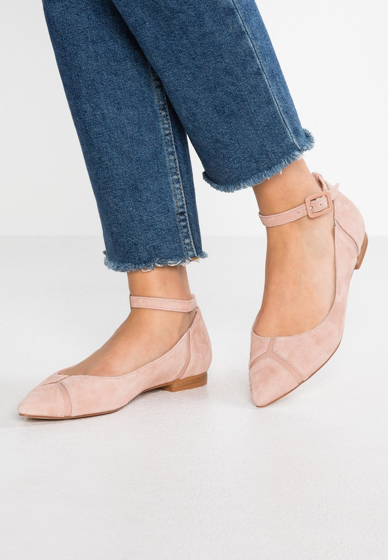 KIOMI - Ankle strap ballet pumps - nude