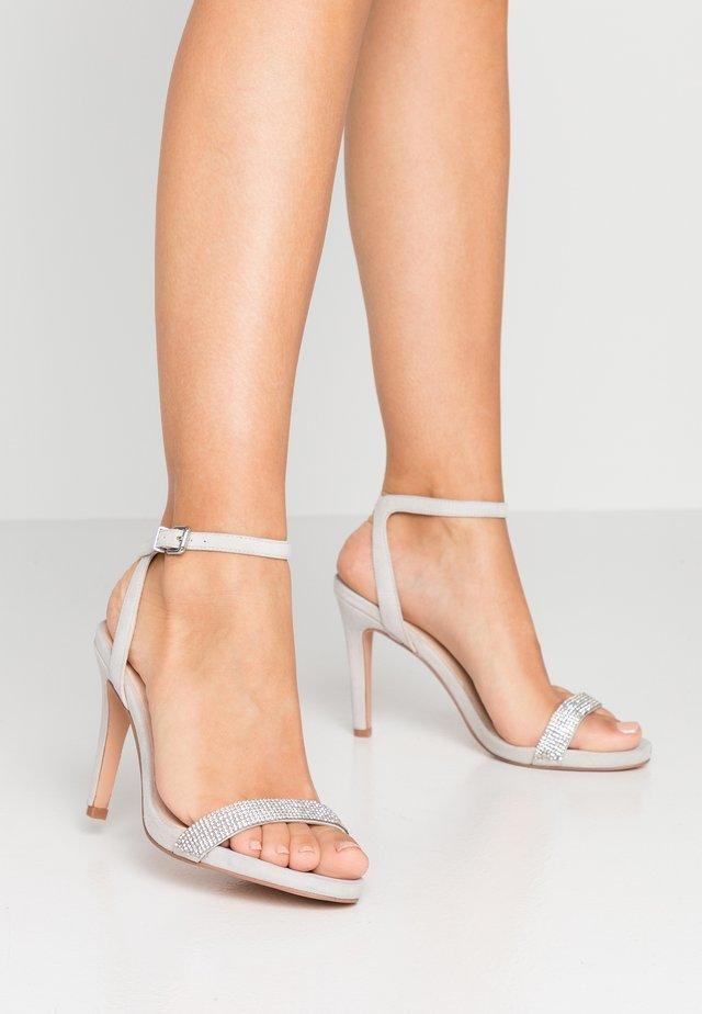 High Heel Sandalette - light grey