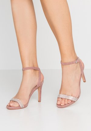 High heeled sandals - mauve