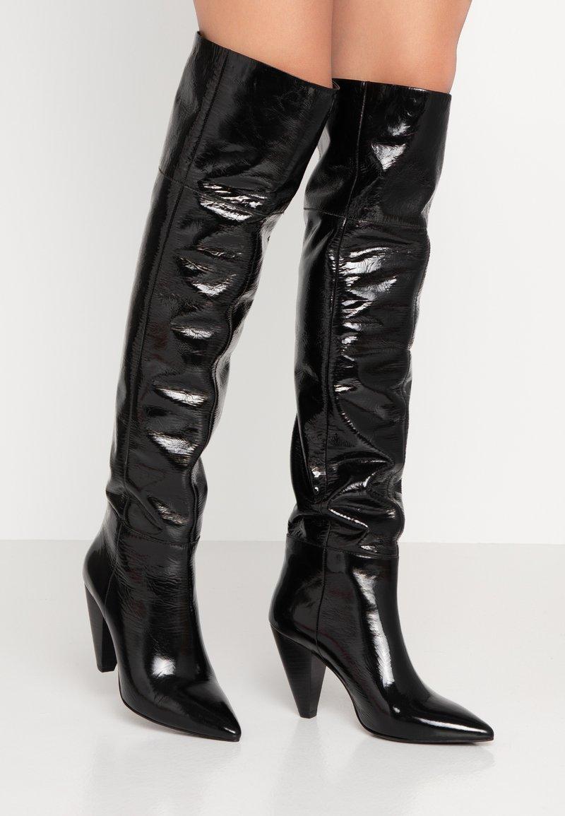 KIOMI - Kozačky nad kolena - black