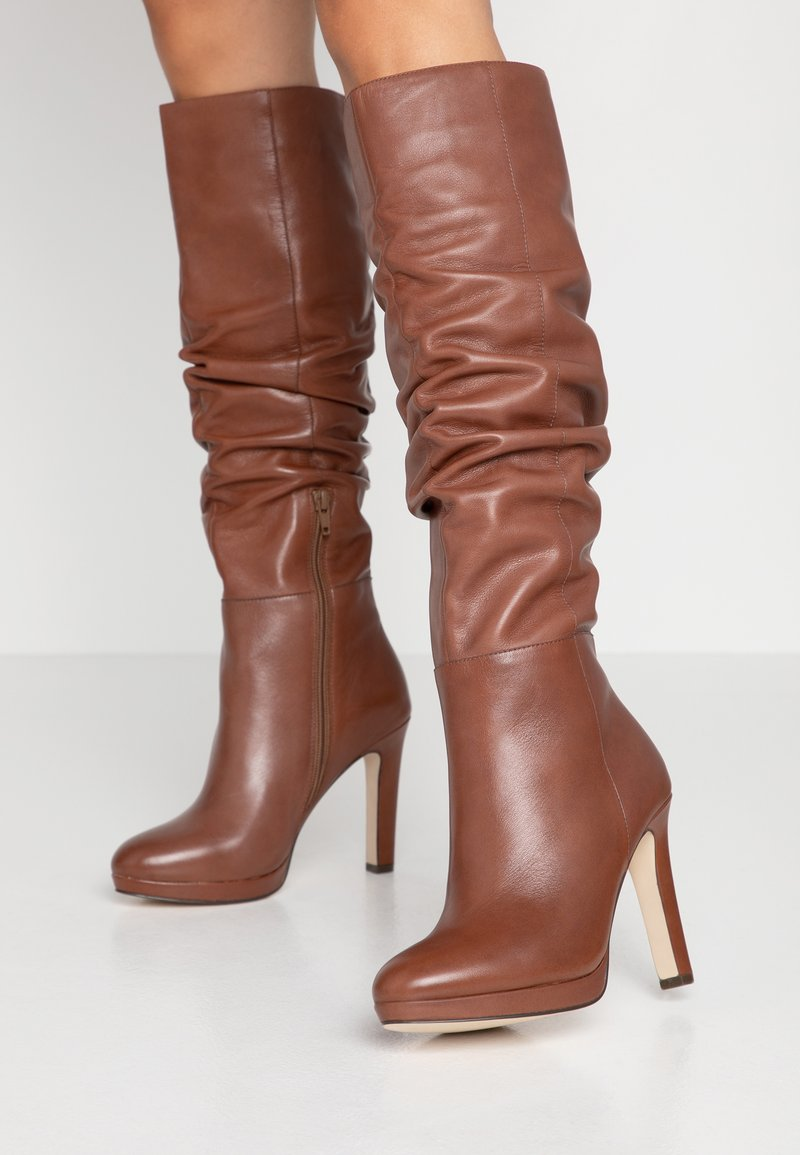 KIOMI - High heeled boots - cognac