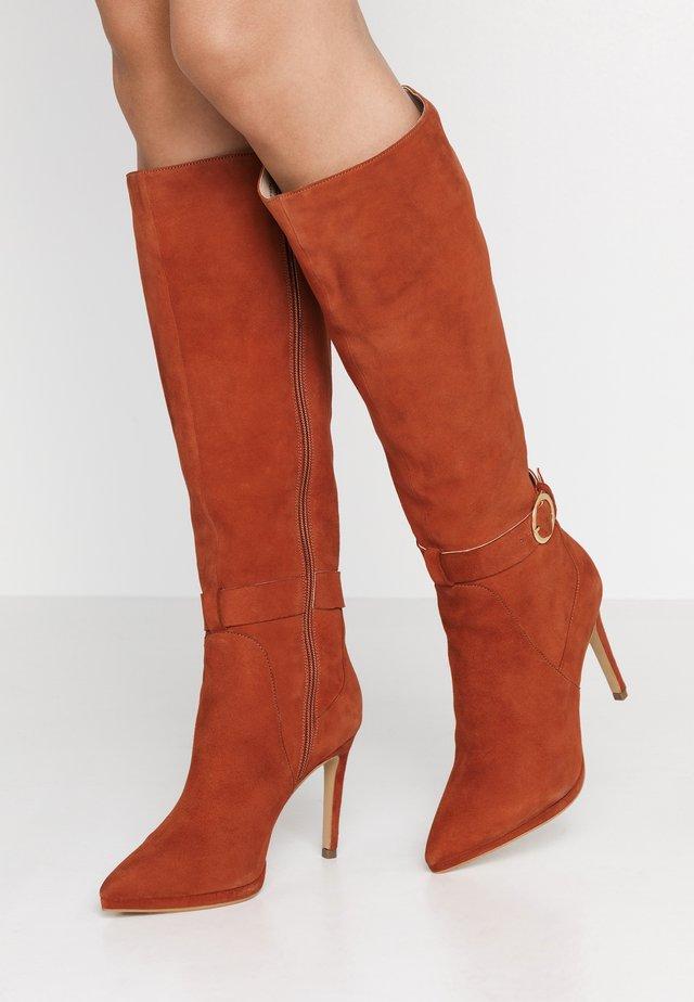 Højhælede støvler - rust