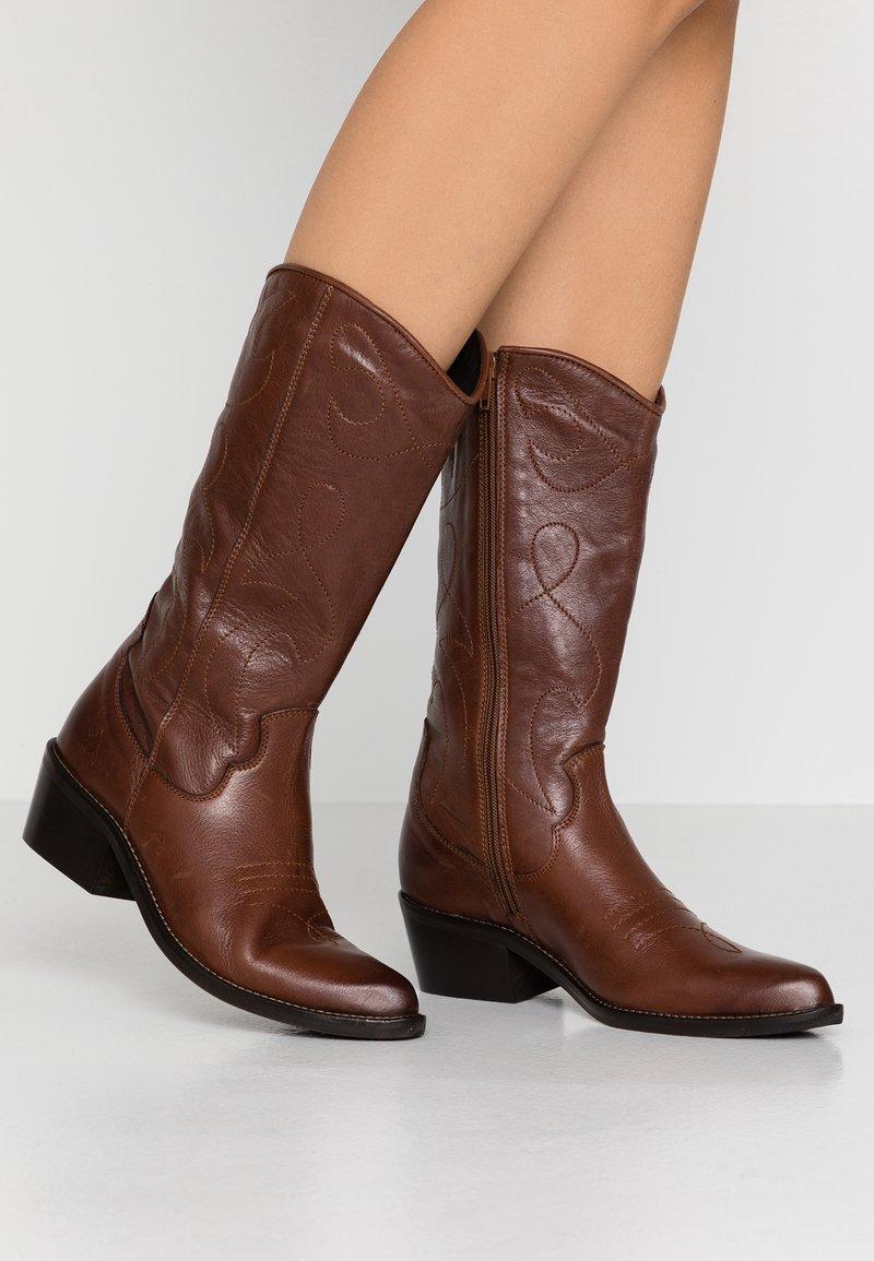 KIOMI - Stivali texani / biker - brown