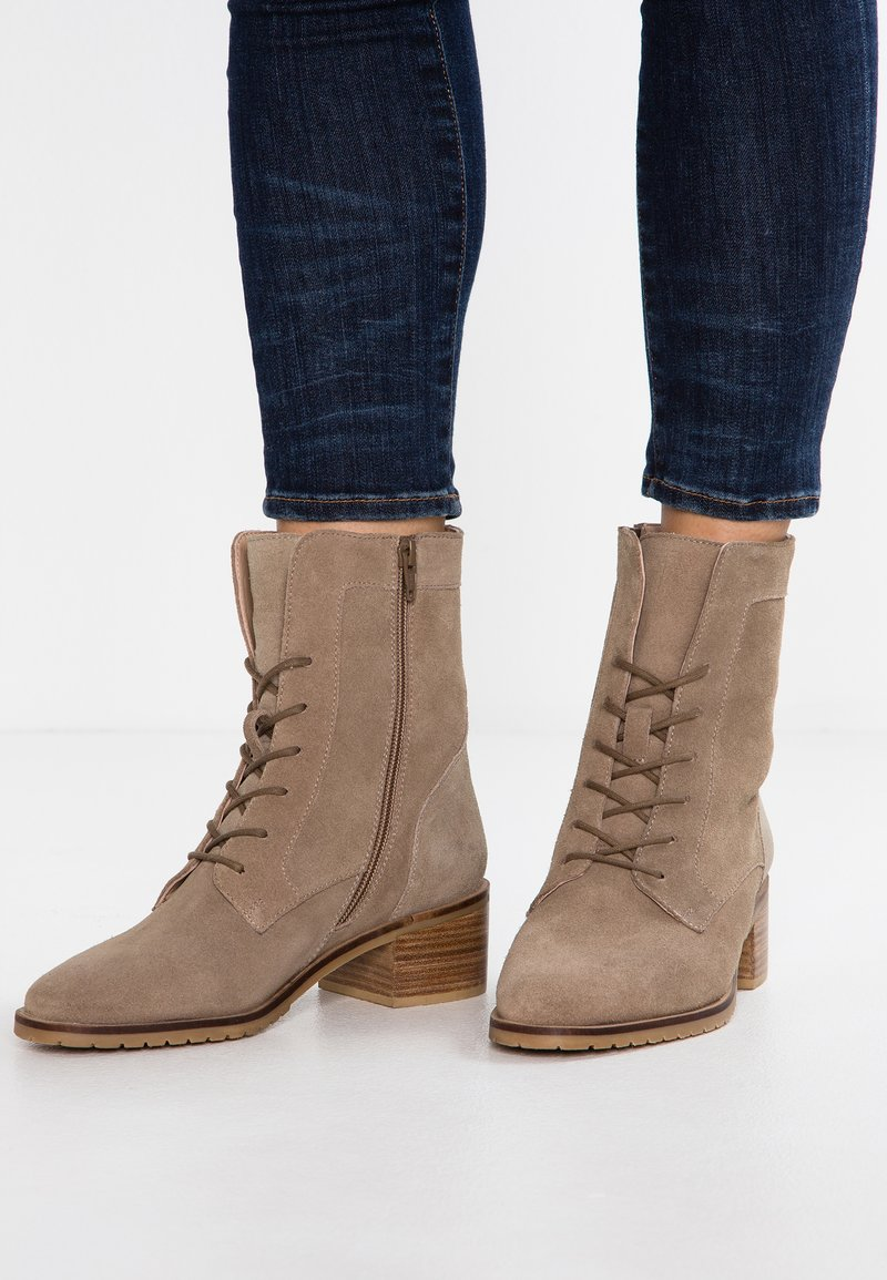 KIOMI - Lace-up ankle boots - taupe