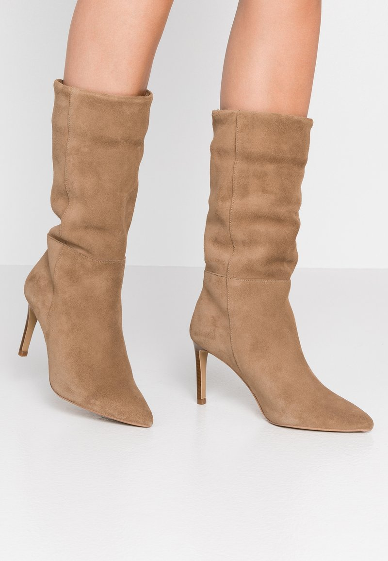 KIOMI - High heeled boots - beige