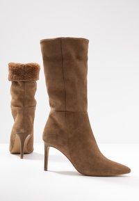 KIOMI - High heeled boots - beige - 7