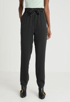 Pantalones - black/white