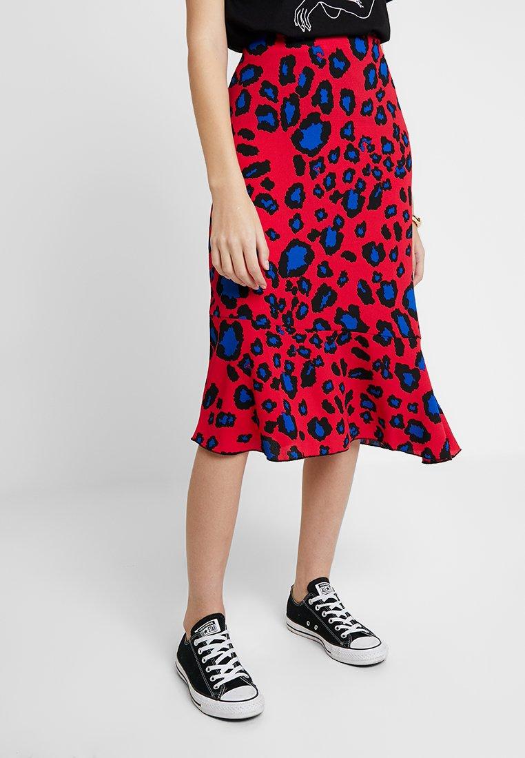 KIOMI - SKIRT WITH HEM PANEL DETAIL - A-line skirt - multi-coloured