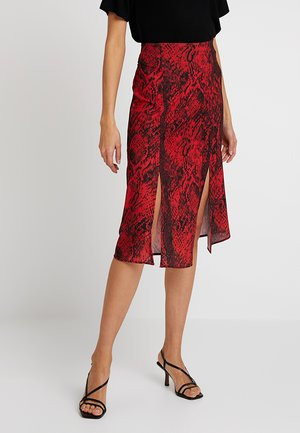 A-line skirt - red/black