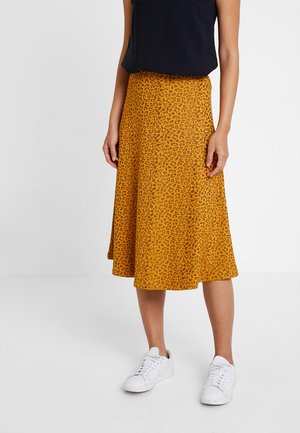 A-line skirt - orange/black