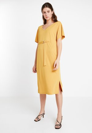 Jersey dress - golden yellow