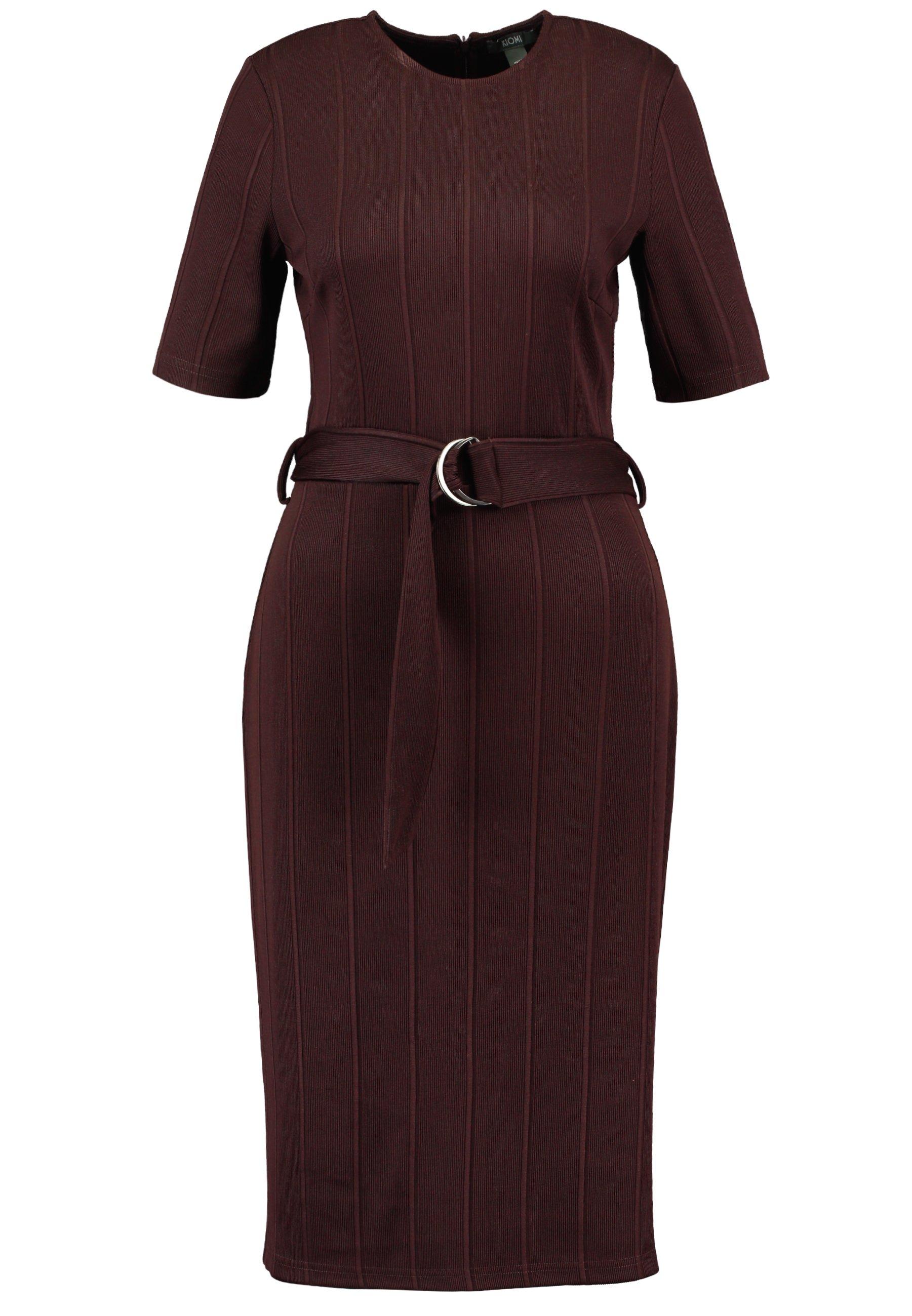KIOMI Sukienka z dżerseju - chocolate plum