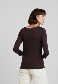 KIOMI - Long sleeved top - chocolate plum - 2