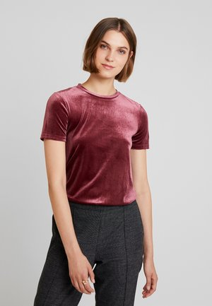 T-shirt con stampa - tawny port