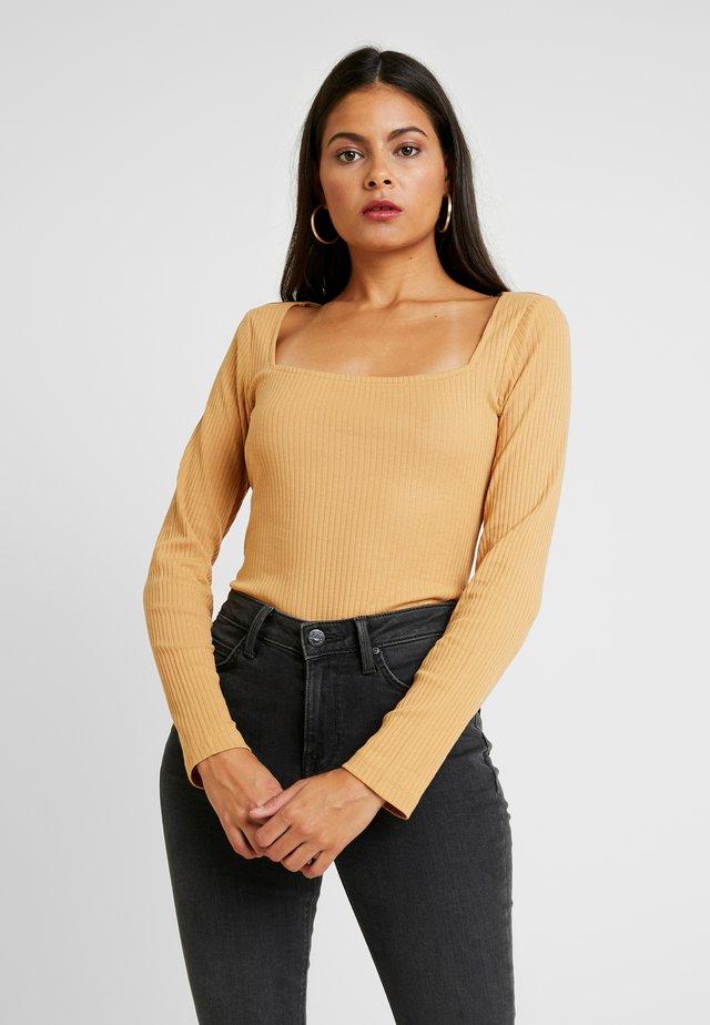 BODYSUIT - Bluzka z długim rękawem - light brown