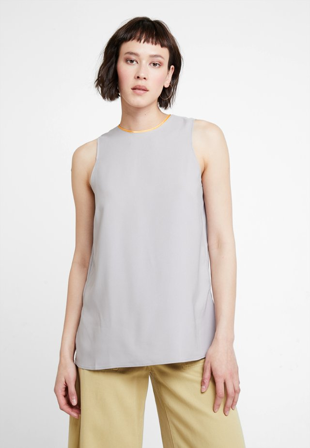 Blouse - light grey/orange