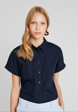 CROPPED BOXY  - Button-down blouse - sky captain