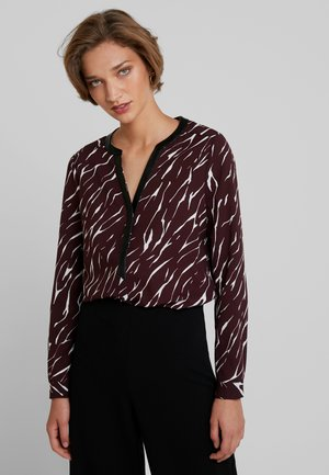 Blouse - bordeaux/white