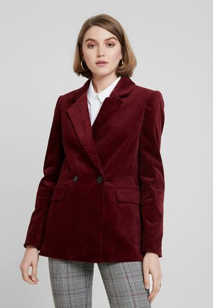 Krátký kabát - burgundy