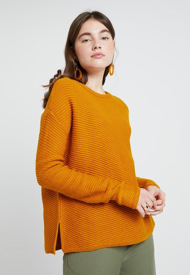 Strickpullover - mustard yellow