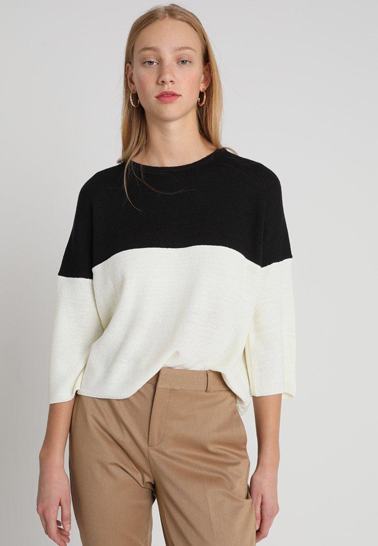 KIOMI - Pullover - white/black