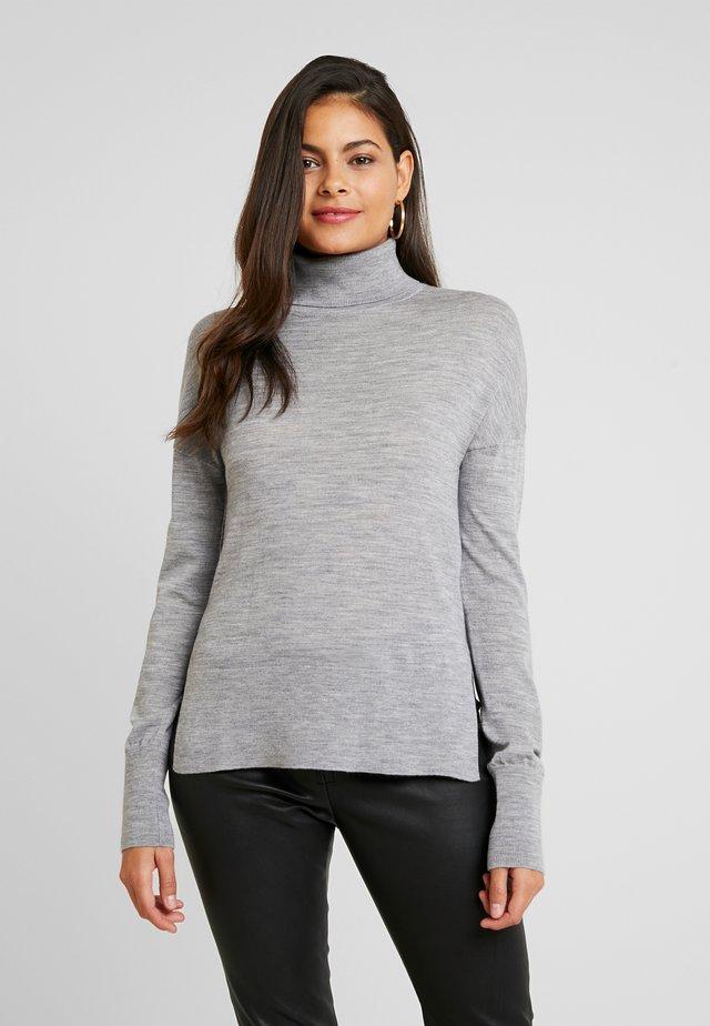 MERINO - Strickpullover - mid grey melange