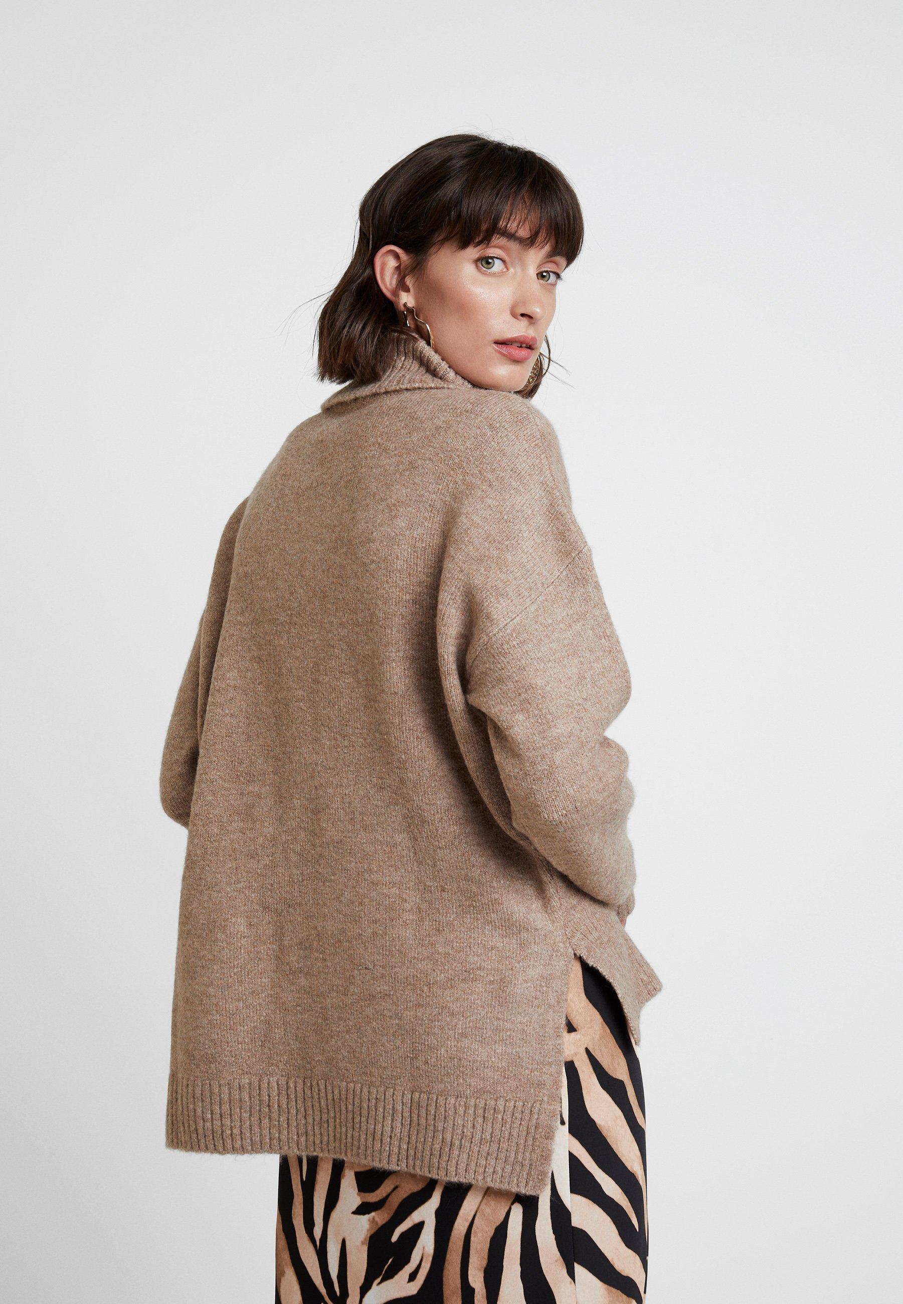 KIOMI Sweter - dark camel