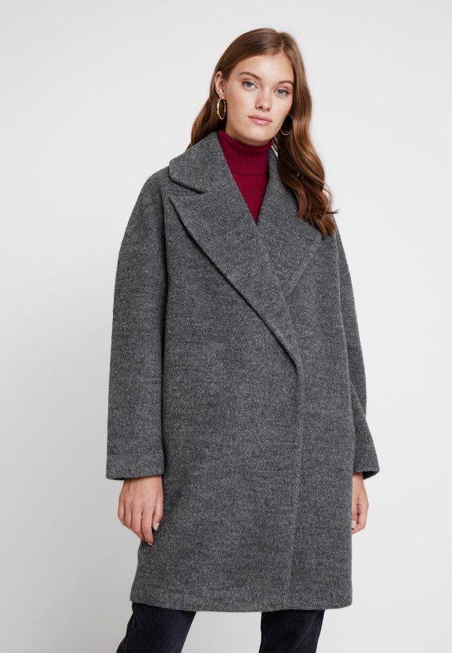 Classic coat - mid grey melange