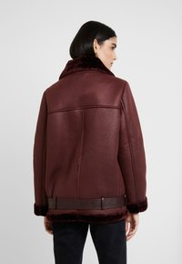 KIOMI - Faux leather jacket - burgundy - 2
