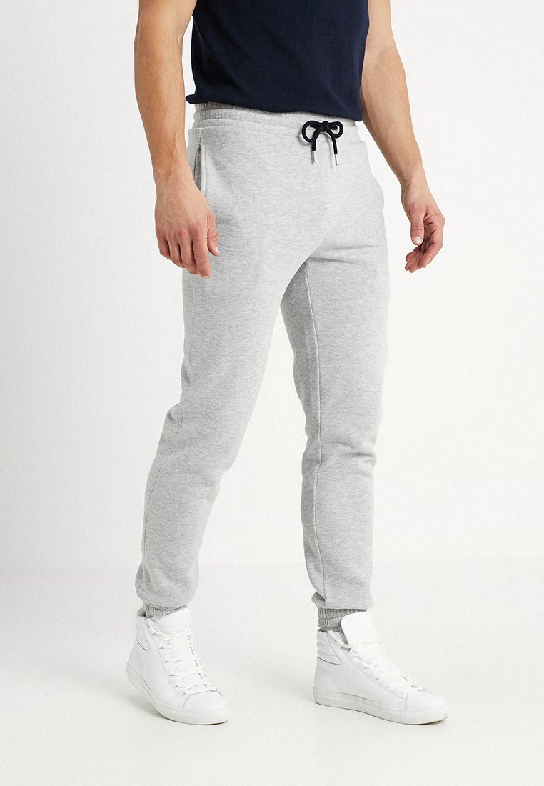 KIOMI - Tracksuit bottoms - mottled light grey