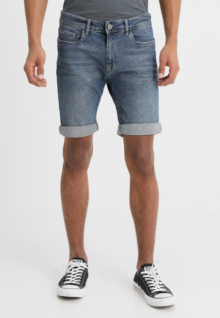 Pier One - Shorts di jeans - blue denim