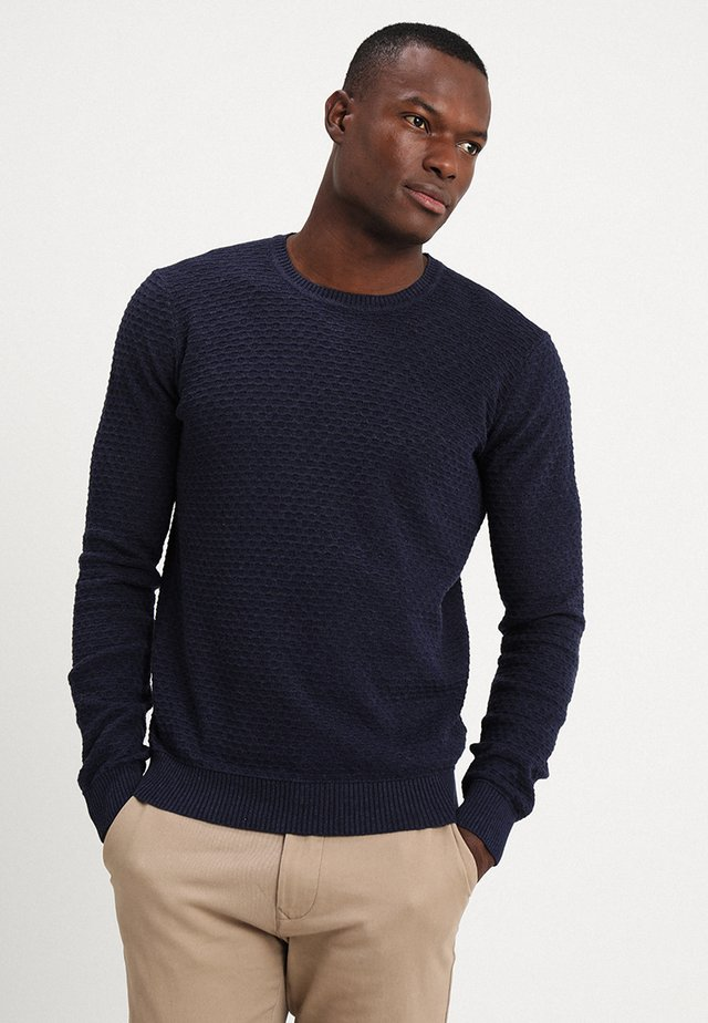 Sweter - mottled blue