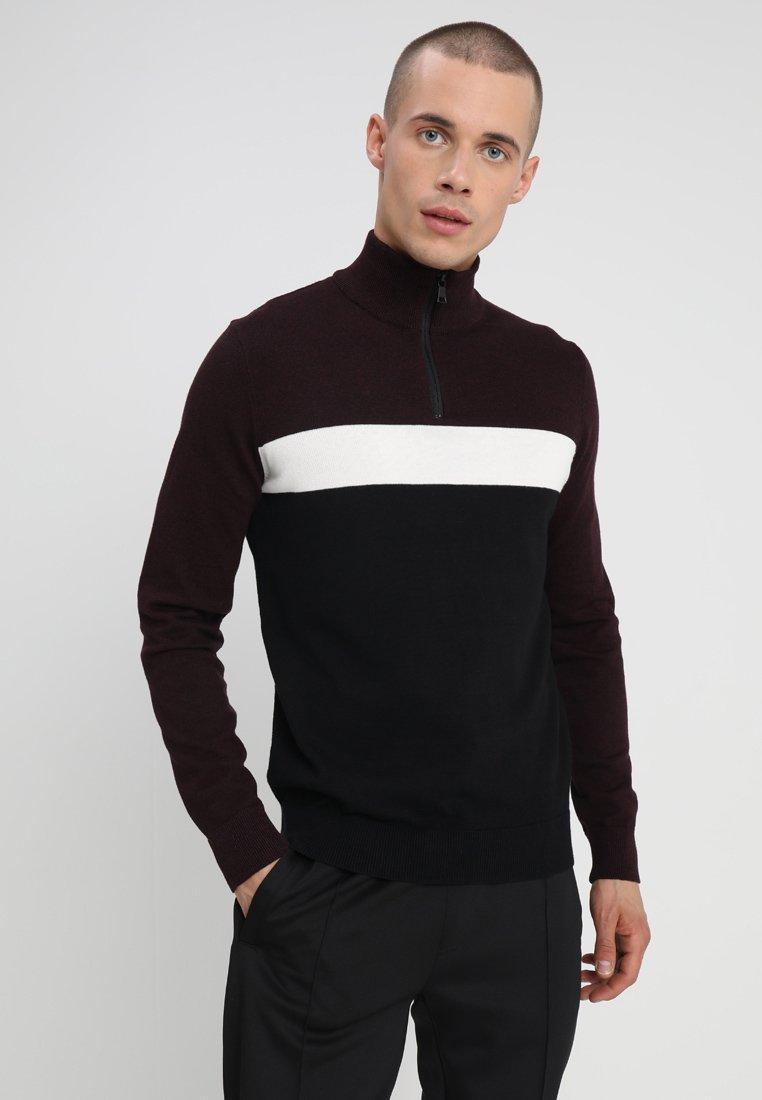 KIOMI - Jersey de punto - black/bordeaux