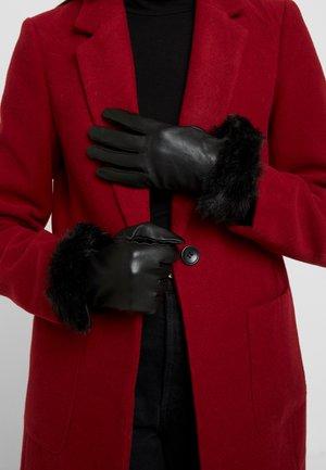 Rukavice bez prstů - black