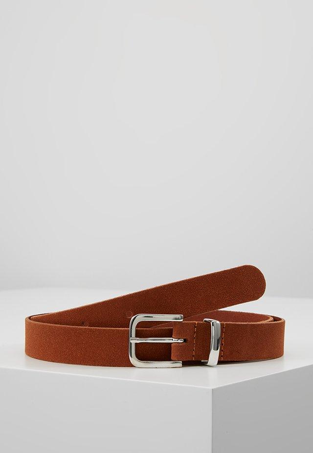 LEATHER - Belt - cognac